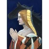 """Sofija, 8a kl. Bona Sforca (1494–1557), Lietuvos didžioji kunigaikštienė ir Lenkijos karalienė. Darbas įkvėptas apie 1500 m. nežinomo Lombardijos tapytojo kūrinio """"Damos portretas"""""""