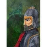 """Kotryna, 8a kl. Gediminas, Lietuvos didysis kunigaikštis (1316–1341). Darbas įkvėptas dailininko Artūro Slapšio portreto """"Gediminas"""""""