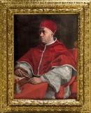 Jacopino del Conte_Florencija 1515 m.  Roma 1598 m. Leono X portretas Aliejus ant medžio