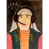 Karolina, 10 kl. Aldona Ona, Gedimino duktė (1309/1310–1339). Darbas įkvėptas dailininkės Janinos Malinauskaitės tapyto portreto
