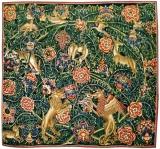 Gobeleno su didžialapių augalų motyvais fragmentas. Turnė (?), Valonija, Pietų Nyderlandai, po 1500 m.