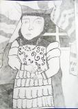 """Greta Butkutė, 10 m., """"Barbora Radvilaitė"""", Tytuvėnų gimnazijos meno skyrius, mokytoja Danguolė Žukauskienė"""